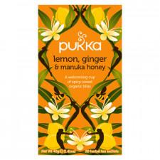 Pukka Lemon, Ginger & Manuka Honey Te Ø (20 breve)