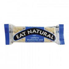 Blåbær & cashewnødde bar med yoghurt overtræk fra Eat natural