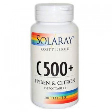 Solaray C500+ Hyben og Citron (100 tabletter)