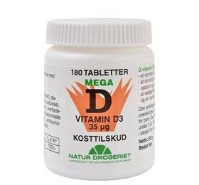 D3 vitamin 35 mcg 180 tab fra Naturdrogeriet