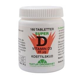 D3 vitamin 85 mcg Super D 180tab Naturdrogeriet