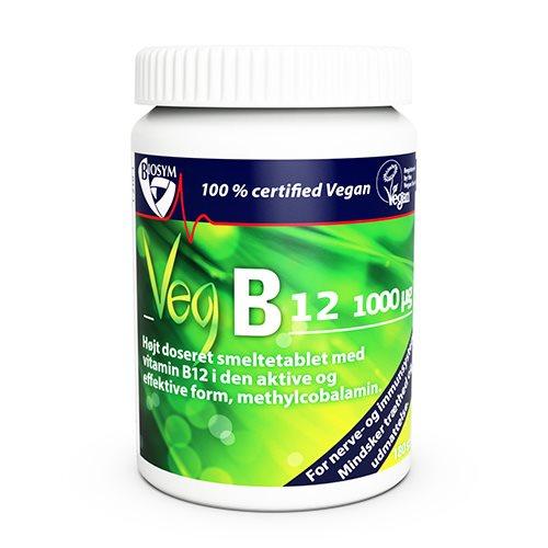 Biosym Veg B12 vitamin - Smeltetablet (120 tabletter)