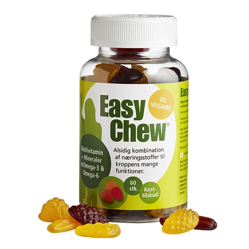 EasyChew Multivitamin m. Omega 3 60stk fra Dansk Farmaceutisk Industri