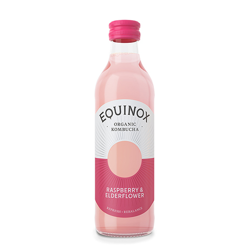 Image of   Equinox Kombucha te Raw Rasberry & Elderflower Ø (275 ml)