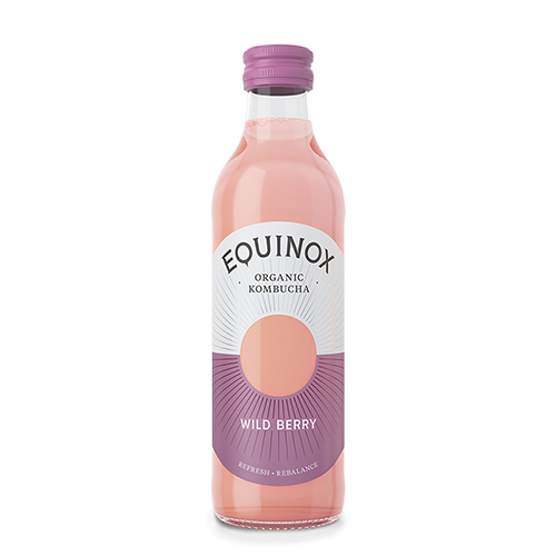 Image of   Equinox Kombucha te Raw Wild Berry Ø (275 ml)