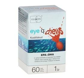 Image of   Eye Q Chews Fiskeolie m. Jordbærsmag (60 kapsler)