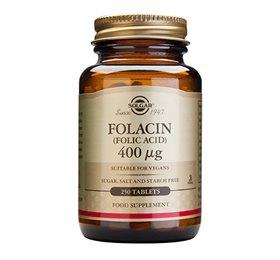 Folinsyre (Folacin) 400 mcg 250 tab fra Solgar Nordic