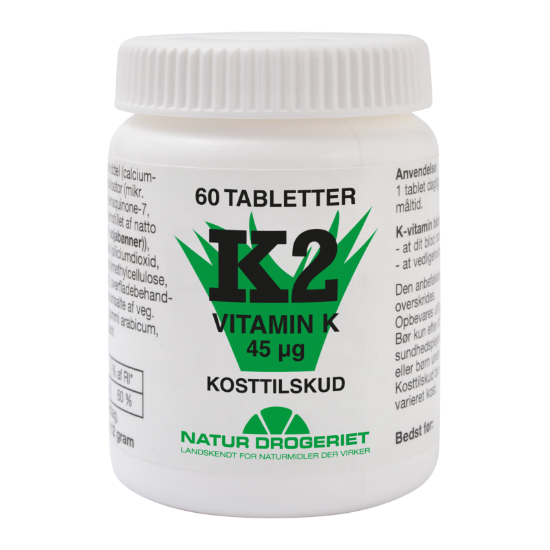 K2 vitamin 45ug 60 tab fra Naturdrogeriet