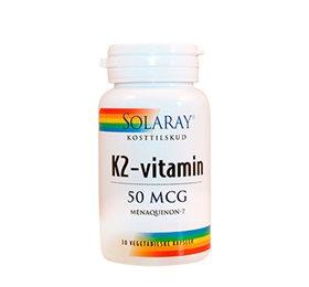 K2-vitamin 50 mcg 30kap fra Solaray