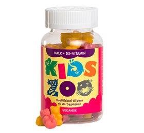 Kids Zoo Kanin kalk + D gelé 60stk fra Dansk Farmaceutisk Industri
