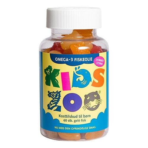 Kids Zoo fisk omega 3 gelé 60stk fra Dansk Farmaceutisk Industri