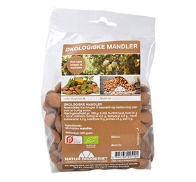 Mandler søde spanske 250gr fra Naturdrogeriet