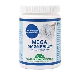 Image of   Mega magnesium 200 mg 90 tab fra Natur Drogeriet
