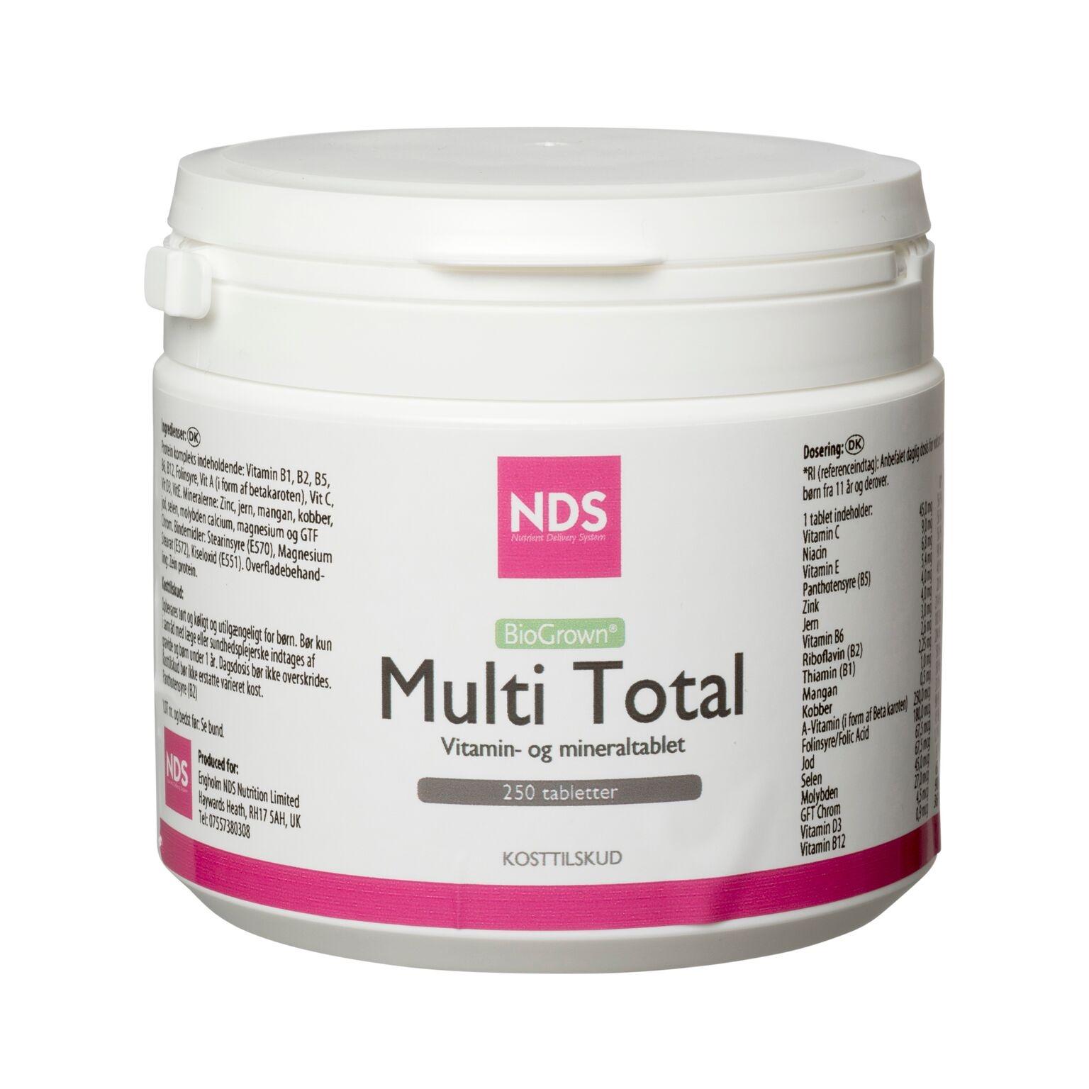 NDS Multi Total - multivit og mineral 250 tab