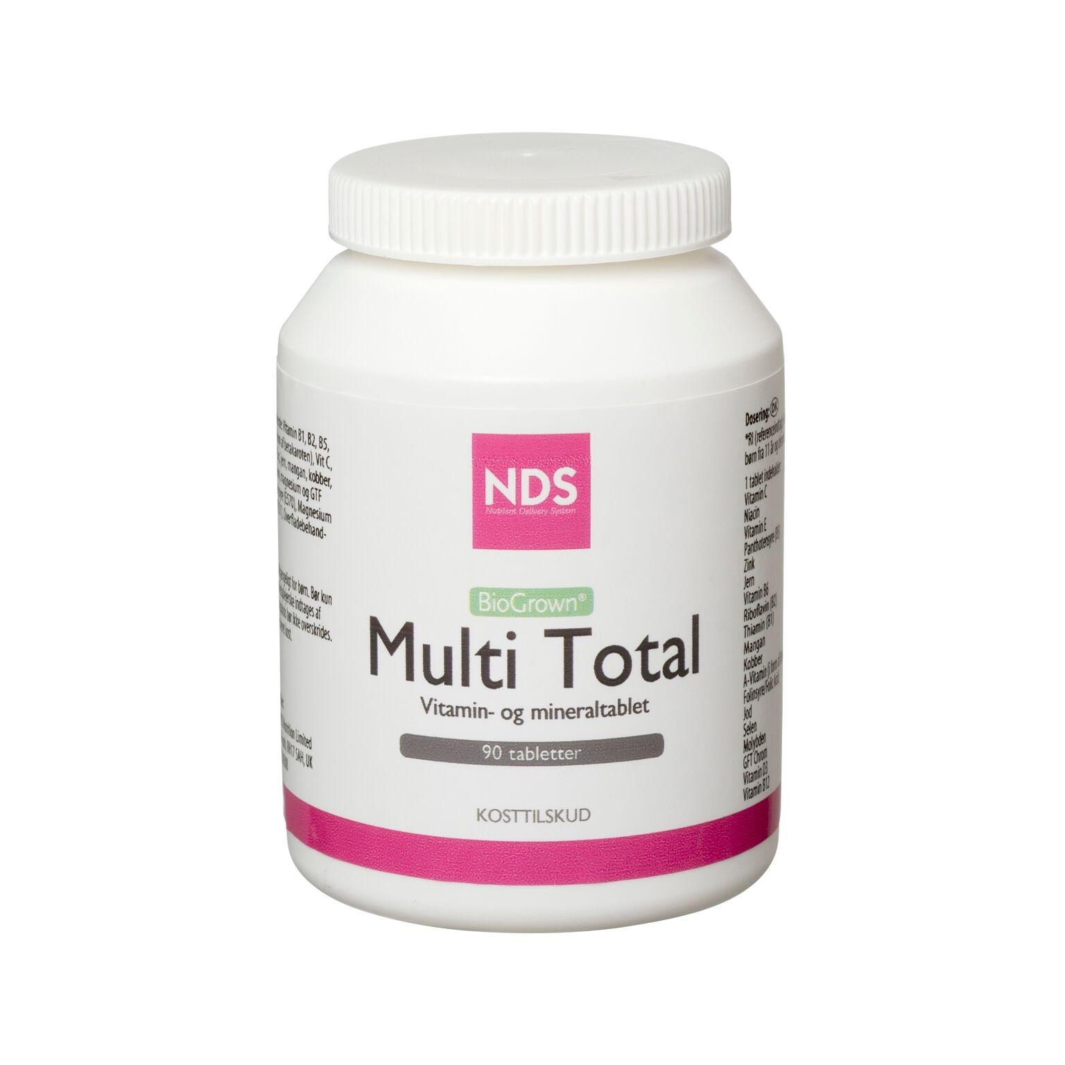 NDS Multi Total - multivit og mineral 90 tab