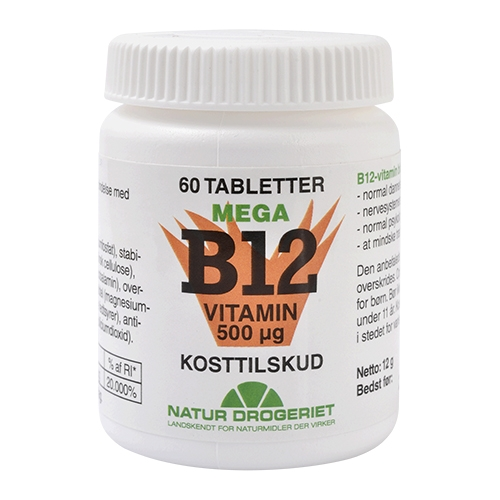 Image of   B12 mega vitamin 500 ug