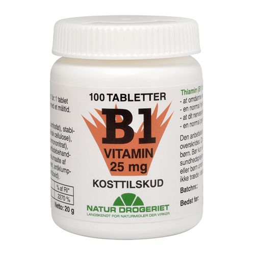 Image of   B1 vitamin 25 mg 100 tab