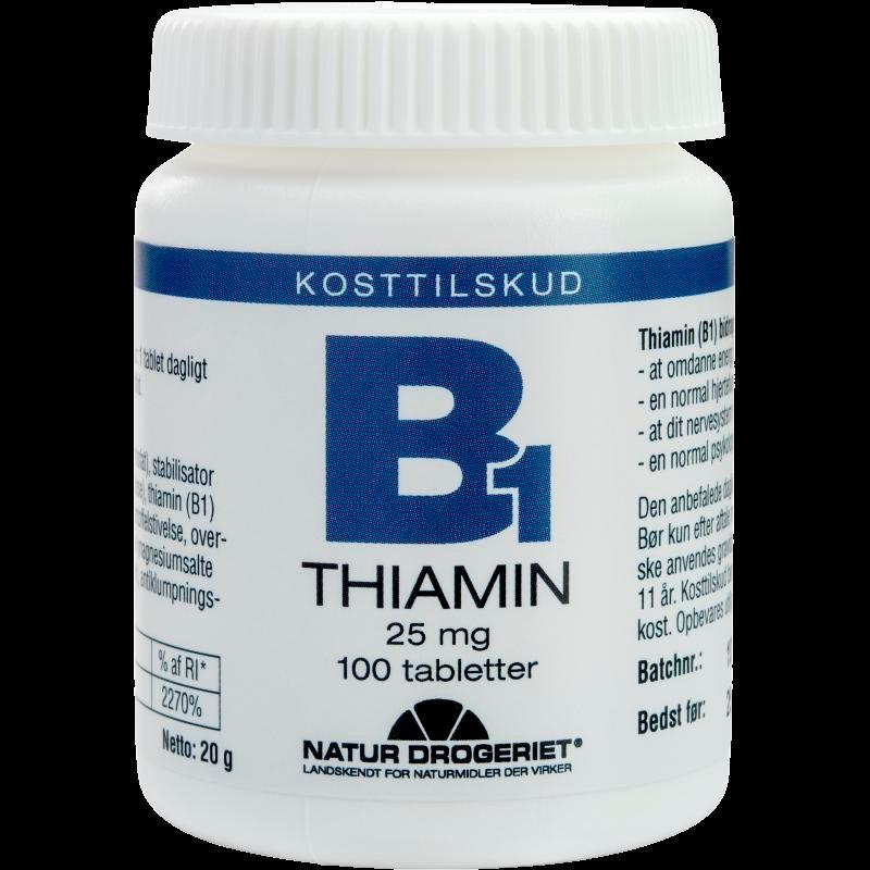 B1 vitamin 25 mg 100 tab