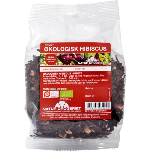 Image of   Hibiscus blomst økologisk knust 90gr Naturdrogeriet