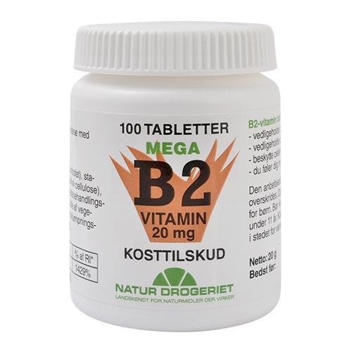 Mega B2 vitamin 20mg 50 tab