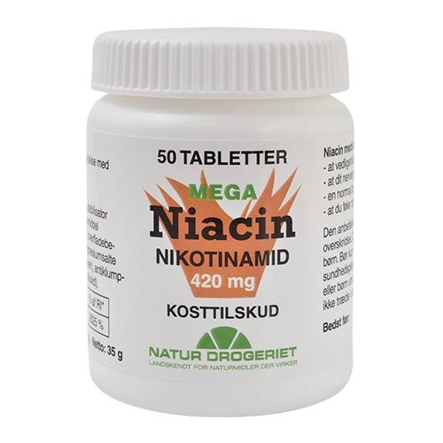 Image of   Niacin Nikotinamid 420 mg 50 tab