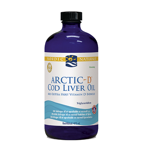 Torskelevertran +D citrus Cod liver oil 474ml fra Nordic Naturals
