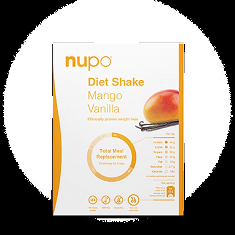 Nupo Diet Shake mango vanilla breve 384 gr
