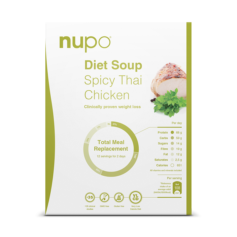 Nupo Spicy Thai Chicken Classic suppe 12x32 gr