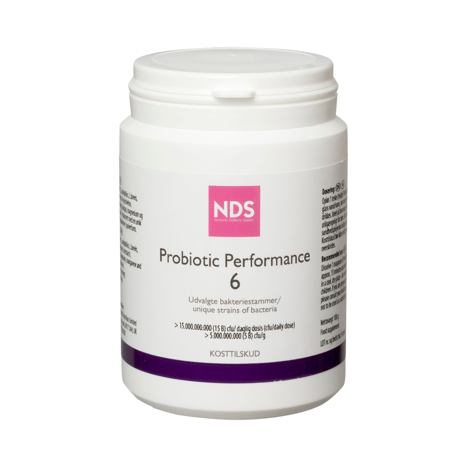 Image of   NDS Probiotic Performance 6 100gr