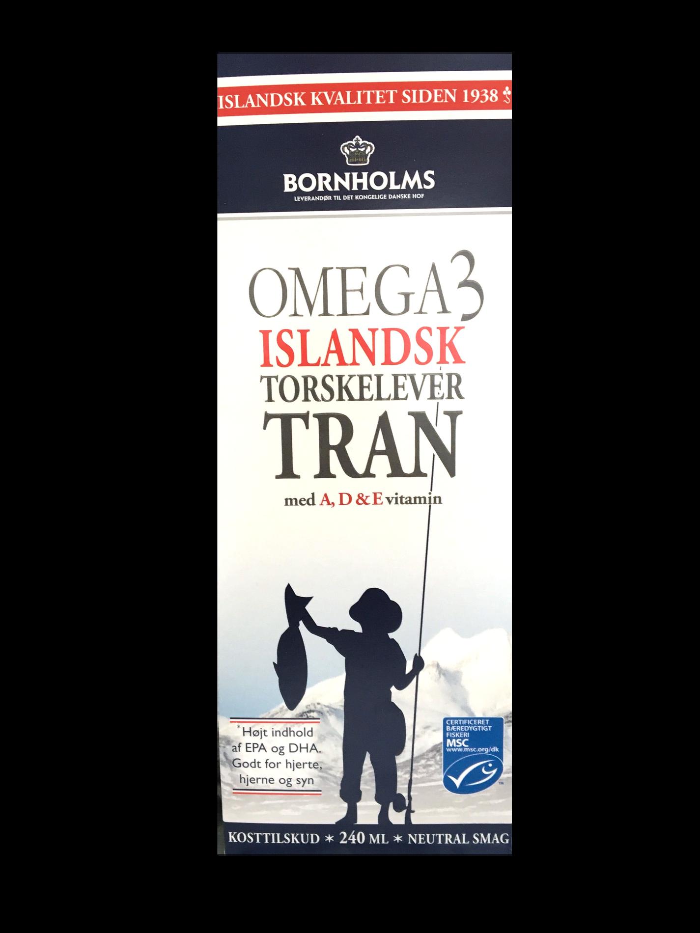 Bornholms tran Omega 3 240ml